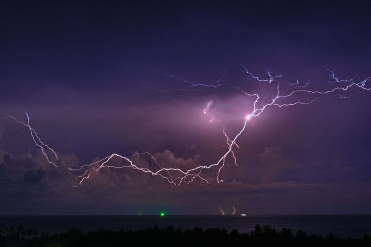 Lightning in south Thailand Krabi Thailand Beautiful Blue Rain Night Dark Scary Lightning Storm Power In Nature Sky Thunderstorm Power Cloud - Sky Outdoors Forked Lightning Environment Beauty In Nature Nature Night Water Communication Dramatic Sky Storm Cloud Warning Sign Scenics - Nature Illuminated