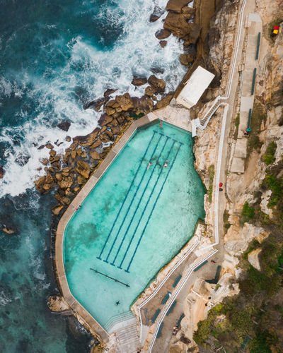 Water High Angle View Swimming Pool Day Nature Pool No People Sea Turquoise Colored Architecture Aerial View Travel Destinations Outdoors Sport Blue Land Built Structure Travel Beach Drone  Dronephotography Outdoor Pool Rockpool Australia Bronte Beach My Best Photo