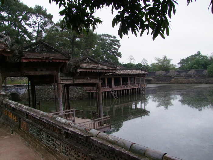 Two Pavilions, Lake Luu Kiem Architecture Building Exterior Built Structure Composition Day Full Frame Gazebo History Huế Lake Nature Old Outdoor Photography Outdoors Pavilions Pond Reflections Tourist Attraction  Tranquility Trees Tu Duc Tomb Vietnam Water White Clouds Wood - Material