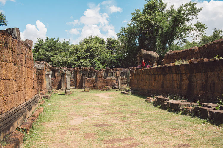Siem Reap Cambodia Angkor Architecture Plant Built Structure Tree Nature Sky Ancient History The Past Day Cloud - Sky Travel Destinations Old Ruin Travel Grass Building Exterior No People Old Growth Tourism Outdoors Ancient Civilization Stone Wall Ruined Archaeology
