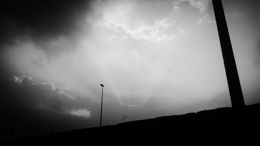 Day off Sky Blackandwhite Monochrome Bw_collection