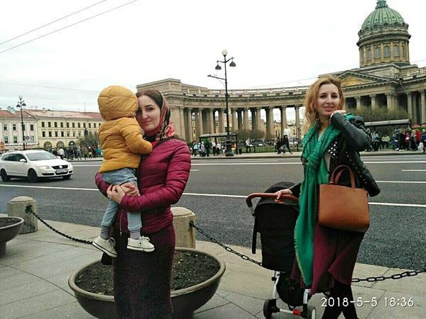 Saint Petersburg Chechen Girl ♥ Rainy Saint-Petersburg Nevskiy Prospekt Isaakievskiy Sobor