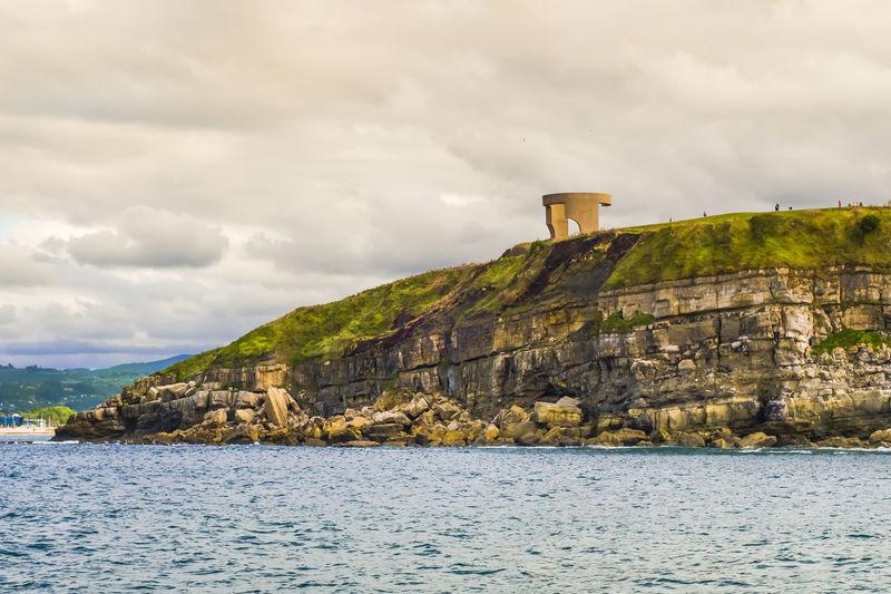 The cliffs off