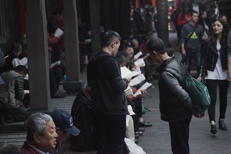 People Taiwan Crowd Temple 절 대만