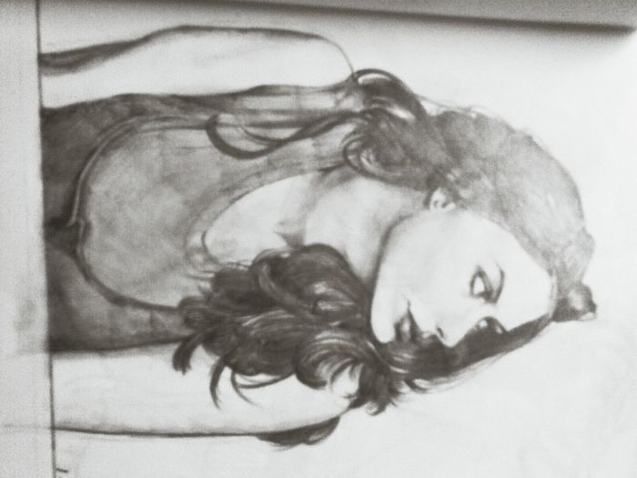Guess who is she that I drew Painting