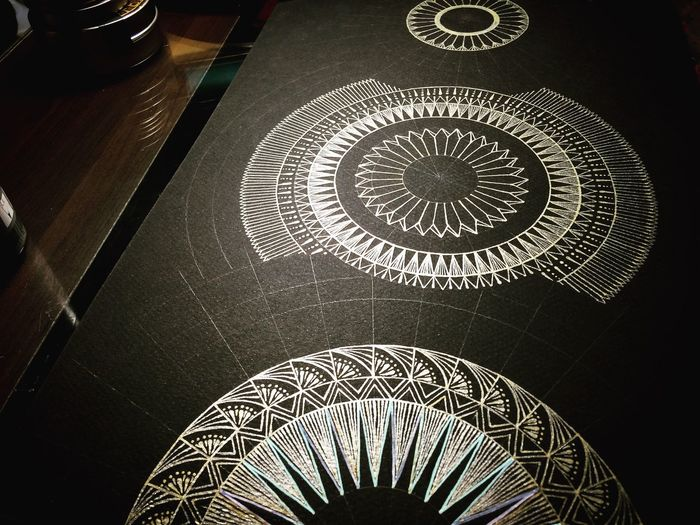 Half way : 1 Art 曼荼羅 Mandala My Drawing Geometry Nature ArtWork YohkoAmaterraArt Sacred Geometry Cosmo Enjoying Life