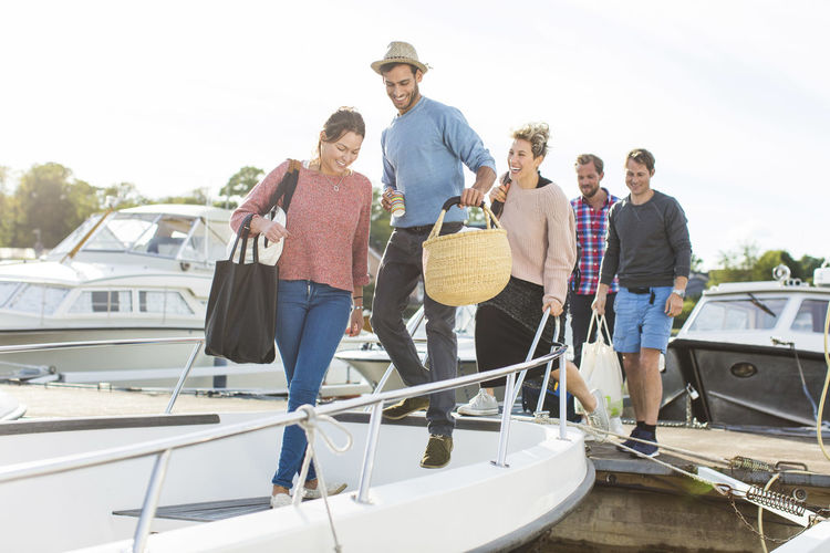 People standing on boat