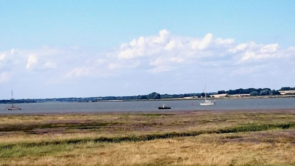 Essex Coast Estuary View Peace Landscape Beachscape