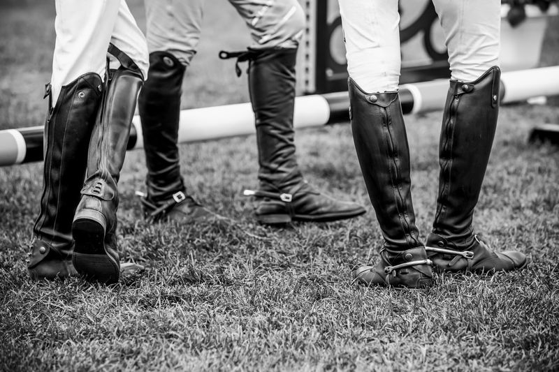 Horse jumping, equestrian sports, show jumping competition themed photograph.