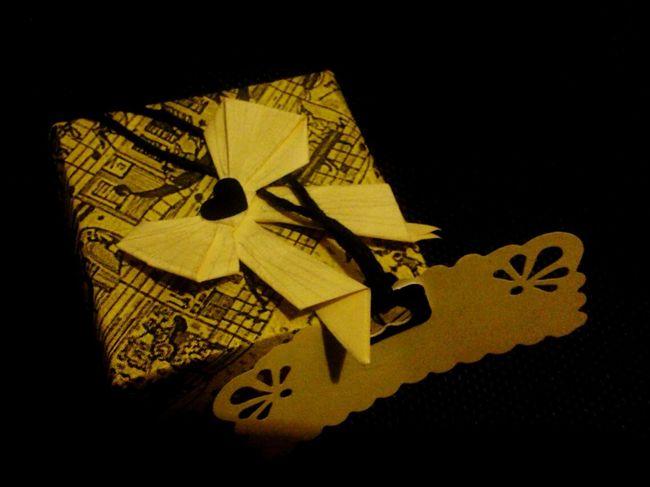 Giftbox Yellow Gift Paper Art Handmade Craft Handmade Gifts