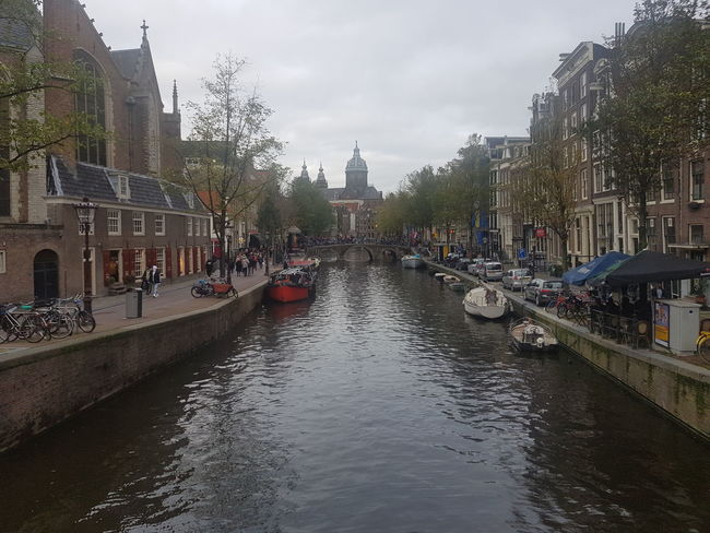 Architecture Water Reflection Bridge - Man Made Structure Building Exterior City Built Structure Travel Destinations Cityscape Day Sky Outdoors Politics And Government Tree No People Amsterdam