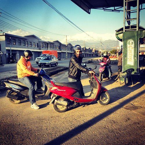 Me Fillingup Gas Motorcycle nepal instatravel