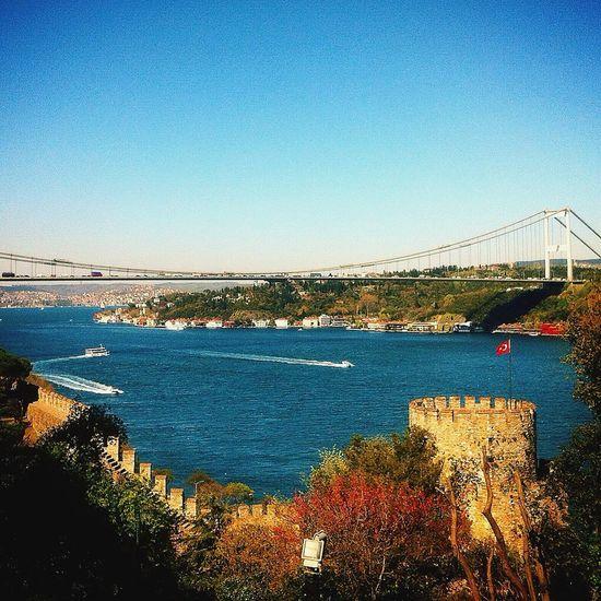 FSM köprüsü ile İstanbul boğazı