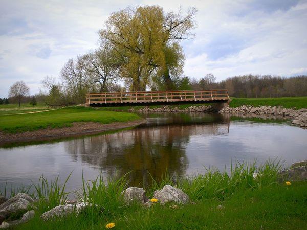 Golfcourse Wisconsin River Outdoors Bridge Hazard Spring