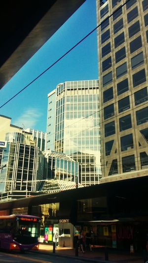 Buildings City Life Wellington  Reflections