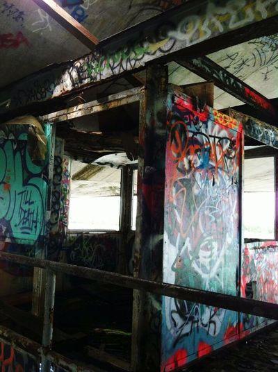 Ghostly commentators. . . (Abandoned Miami Marine Stadium Key Biscayne, FL)
