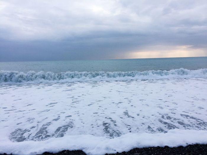 Sea Sea And Sky Spindrift Spray Nature Sky No People Water Outdoors Travel Nature Scenics EyeEm Taiwan Ocean Ocean Waves