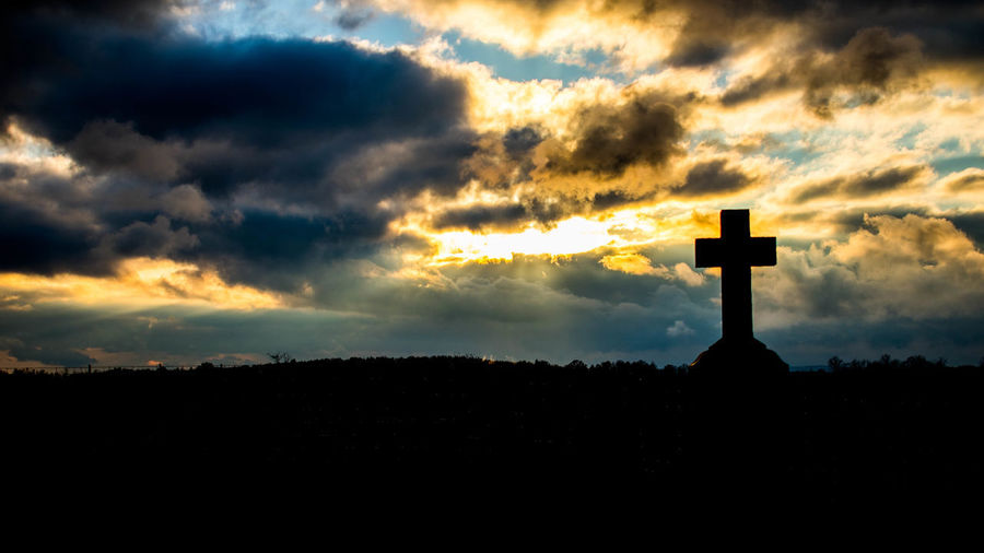 Afternoon Ontario Beauty In Nature Belief Canada Cemitery Cloud - Sky Cross Crucifix Dramatic Sky Nature No People Oshawa Outdoors Place Of Worship Religion Silhouette Sky Spirituality Sunset Symbol