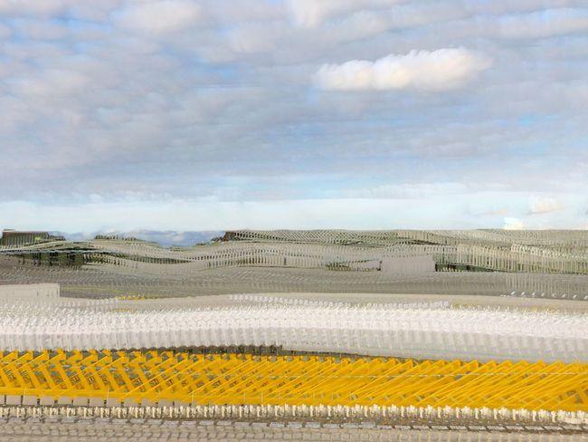 Vanishing Landscapes 20180814, Zwolle Train Railroad Track Longexposure_shot StartrailMode NightCapPro EyeEm Selects Cloud - Sky Sky Yellow Day No People Nature Land Environment Scenics - Nature Transportation Pattern Outdoors Landscape