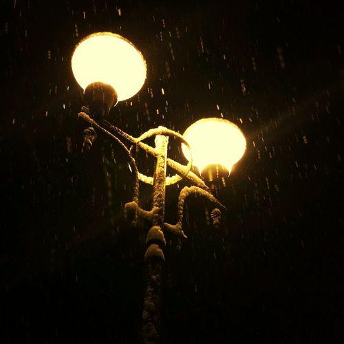 Weather Snow Night Lights