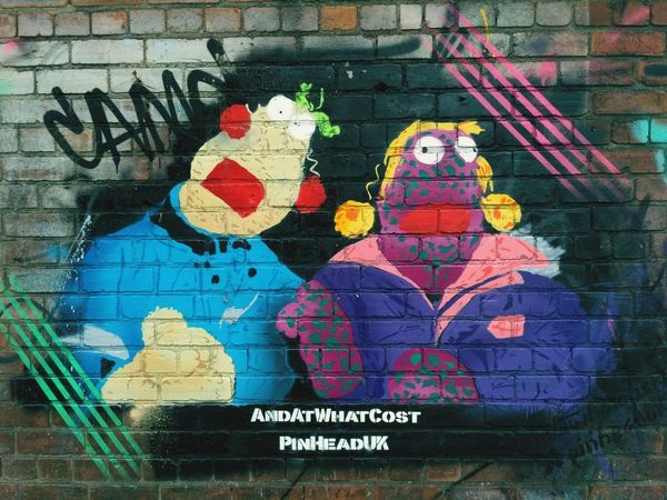 zig n zag Icons Pop Culture Pinhead Uk Culture Born In The 90s Zig Zag Aliens Channel 4 Multi Colored Communication Street Art Graffiti Close-up Art Colorful ArtWork