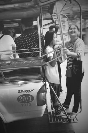 Life is beautiful Mainma Bangkok Thailand OnTheCar Ontheway Life Beautiful Smiling Smaile Girl Women Real People Transportation Casual Clothing Standing Mode Of Transport Full Length Young Adult