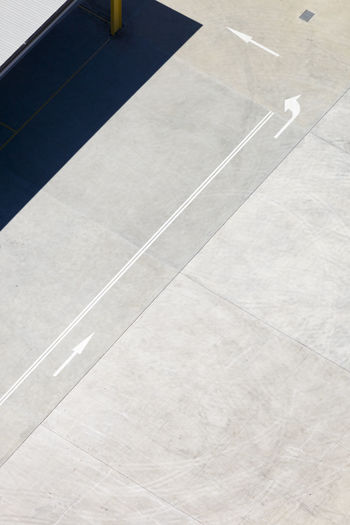 Close-up Court Day Dividing Line High Angle View Marking No People Outdoors Transportation White Line