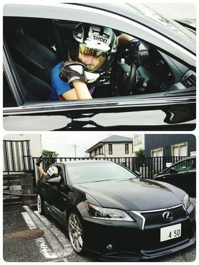 僕の車に勝手にヘルメット被りライダーグローブして乗り込んだ友人女性。 何するかと思えばレースに勝った気分を味わうとか(T^T) あほすぎる(^-^; レクサス Lexus