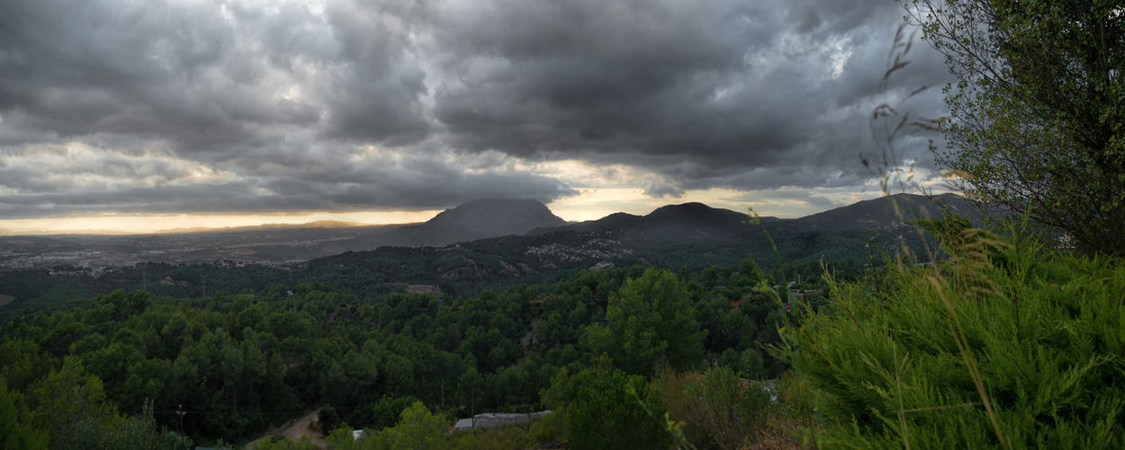 Clouds in the Mountain of Montserrat - Ullastrell - Catalunya Beauty In Nature Cloud - Sky Danger Day Landscape Mountain Nature No People Outdoors Scenics Sky Storm Storm Cloud Thunderstorm Tranquility Tree Weather