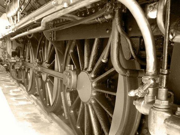 Old train Train Museum Madrid Spain