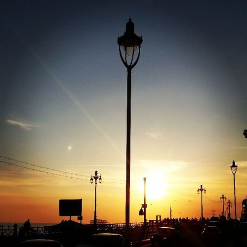 Sun Sunset Seafront Brighton