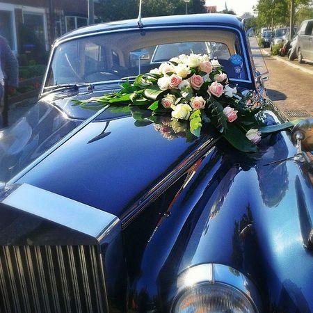 Rolls Royce Wedding Flowers car love