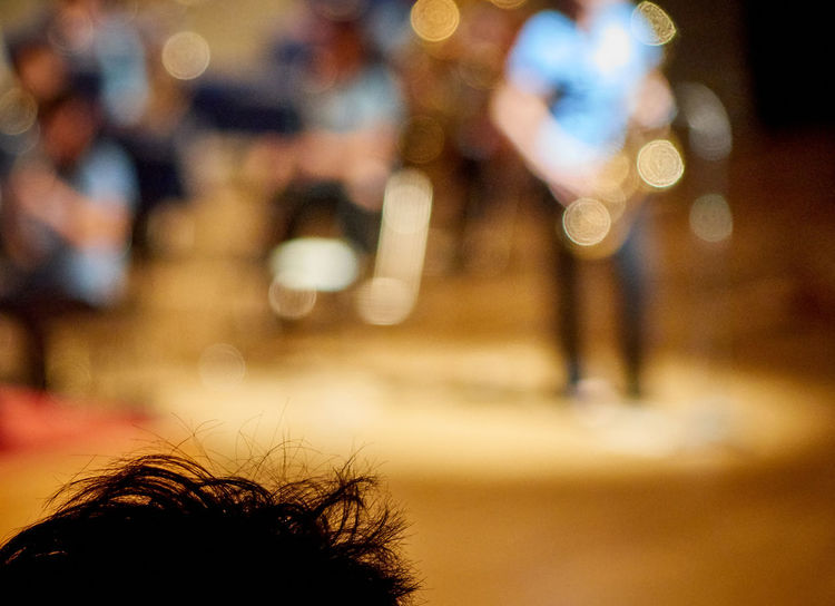 Abstract Photography Music Abstract Close-up Concert Defocused Focus On Foreground Headshot Human Body Part Human Hand Illuminated Indoors  Musical Instrument Musician Musicians Night One Person People Real People Saxophonist Saxophone Sax Spotlight HEAD Hair The Still Life Photographer - 2018 EyeEm Awards