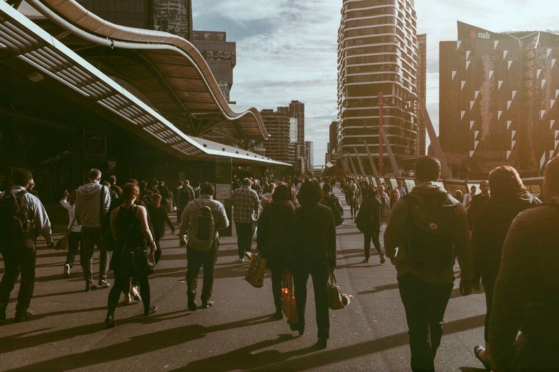 Group Of People City Building Exterior Architecture Real People Built Structure The Street Photographer - 2018 EyeEm Awards Crowd Large Group Of People Street Men Lifestyles Women Adult Walking City Life Day Building Sky