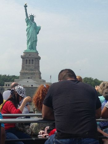 Scenes from Ellis Island, and the Statue of Liberty. Art Capital Cities  Casual Clothing City Day Famous Place Leisure Activity Lifestyles Outdoors Sky Statue Of Liberty Tourism Tourist Travel Destinations