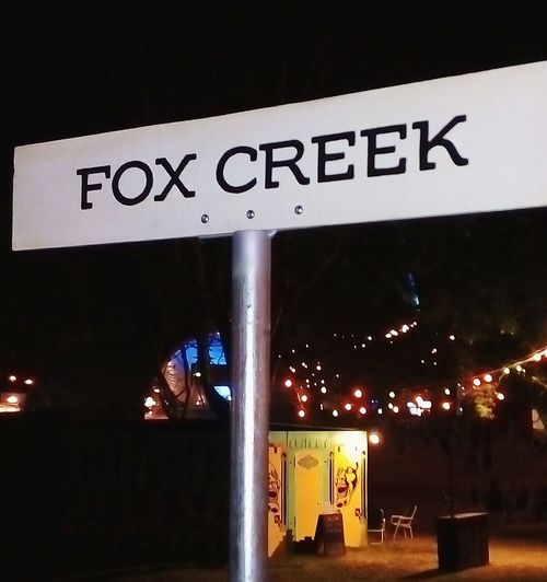 CAPITAL LETTERS. Nightphotography Light And Shadow Night SIGN. No People Signpost Creeks Creek CreekSigns Creek Signs Sign Hunters SignHunters Street Photography Streetphotography Adelaide, South Australia Adelaide Taking Photos Signs & More Signs Foxes Fox Creek FoxCreek 🦊 Communication Illuminated Text Western Script Close-up Information Signboard Sign