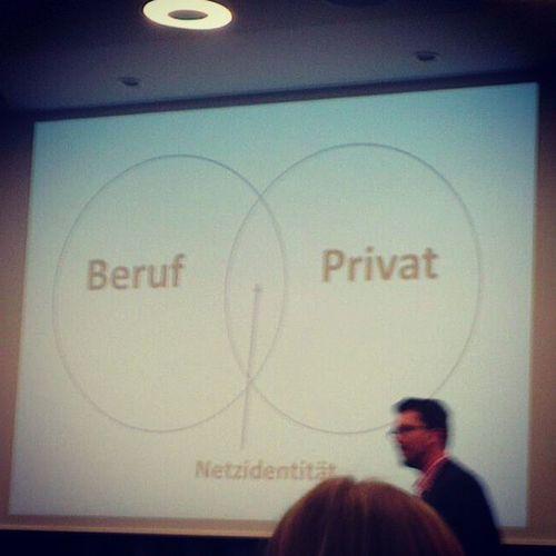 Social Media in Verbindung Privat und Beruf und der Netzindentität. #twonn2013 #bmeetsc Twonn2013 Bmeetsc