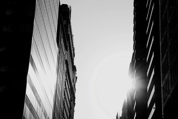 EyeEm Selects Sky Low Angle View Nature No People Clear Sky Built Structure Lighting Equipment Silhouette Pattern Building Exterior Outdoors Sunlight Architecture Metal Copy Space Wall - Building Feature