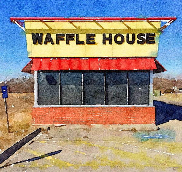 HANGOVER OASIS ~ Excelsior Springs, Missouri USA ~ The World Needs More Yellow Urban Landscape Snapshots Of Life Roadside America Waffle House Inspired By Edward Hopper Streetphotography Colors American Dream Beautiful Day In The Neighborhood... Kansas City Missouri Theappwhisperer DreamScapes Dreamscapes & Memories Divelandscape, Divestreetoghrophy, Cityscape, Kcac Artist Eye4photography  Landscape Dreamscapes Walker Evans