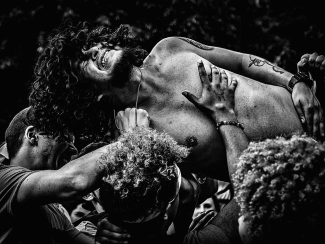 I Against Eye lead singer crowd-surfing. #Rock'nRoll #blackandwhite #crowdsurfing #eyeemDC #iagainsteye #music #punkrock #stagediving Lifestyles Men Real People Young Adult First Eyeem Photo