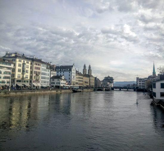 Architecture No People water river cloud sky☁ ☁ In Zürich Switzerland🇨🇭