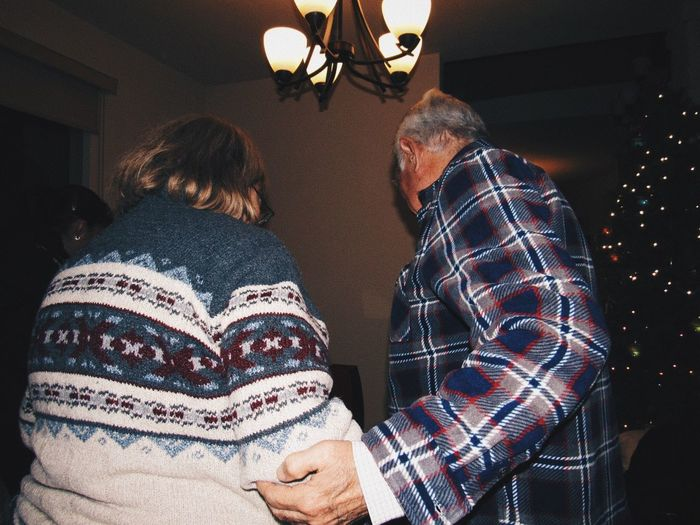 Chritsmas Senior Adult Indoors  Two People Casual Clothing Real People Senior Men Home Interior First Eyeem Photo