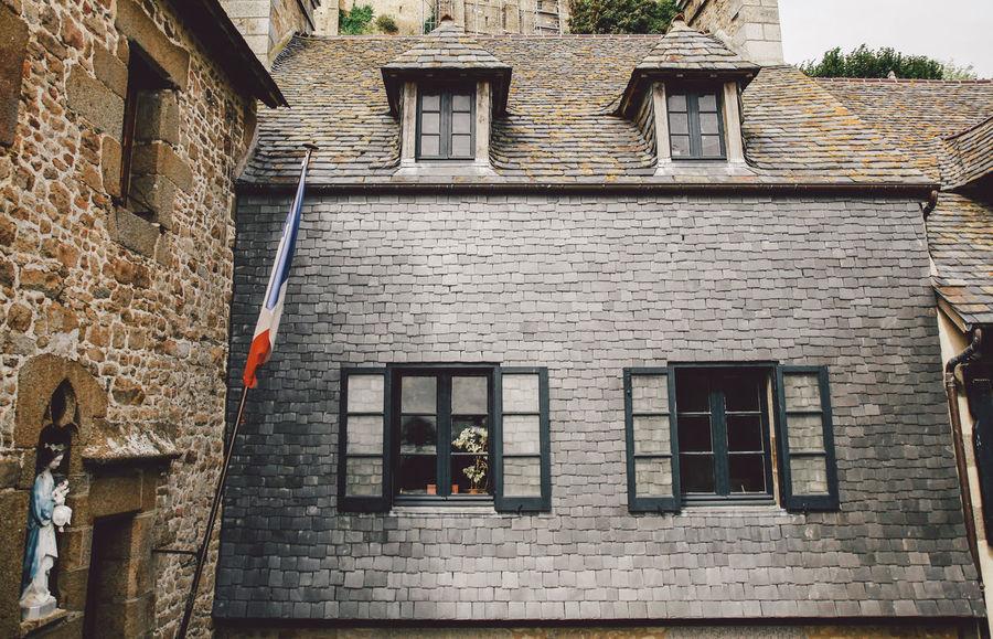 Architecture Brick Wall Building Building Exterior Built Structure Castle City City Life Day Exterior Façade Fortress Historic Mont Saint-Michel Mont Saint-Michel Bay No People Outdoors Residential Building Residential Structure Sky