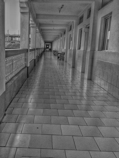 EyeEm Gallery EyeEmBestPics EyeEm Best Shots College Building Indoors  Corridor The Way Forward Architecture Built Structure Day No People Medicalcollege
