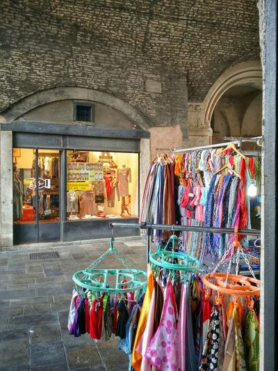 Clothing commerce in contemporary Padua, Italy Traveling Italy Padua Mobile Photography Art Fineart Urban Architecture Historical Buildings Medieval Arcades Clothing Commerce