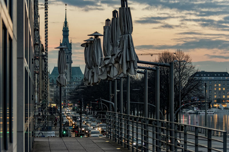 Kunsthalle Architecture Binnenalster Building Exterior City City Life Cityscape Day Evening Sky Hanging Innercity Kunsthallehamburg No People Outdoors Parasols Sky Townhall Hamburg Travel Destinations