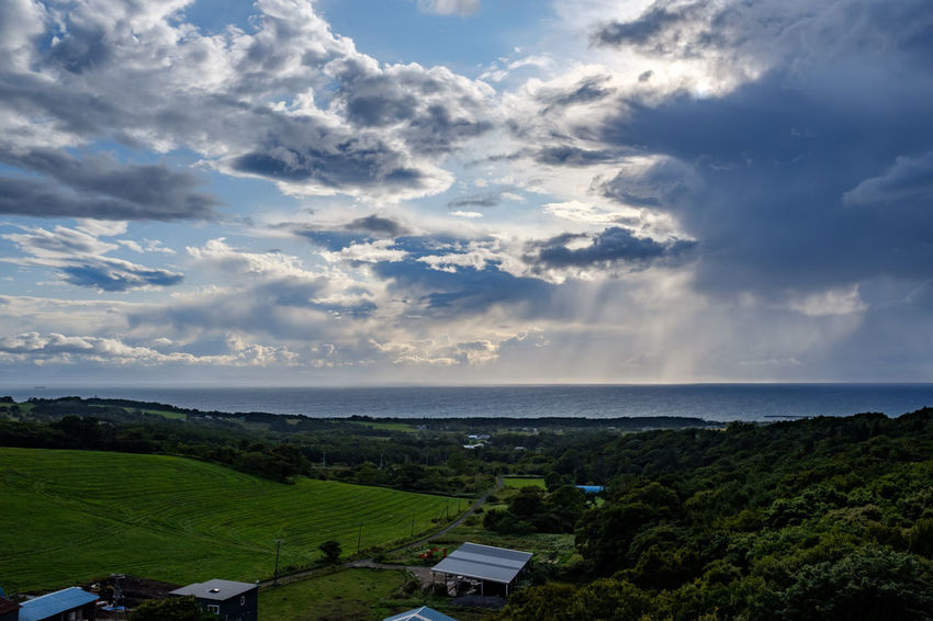 Hokkaido, Japan. FUJIFILM X-T2 Hokkaido Japan Beauty In Nature Cloud - Sky Day Fujifilm Horizon Over Water Landscape Nature No People Outdoors Scenics Sea Sky Tranquility