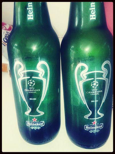 Beer Drinks Heineken Champions League DOUBLE!!! :-)