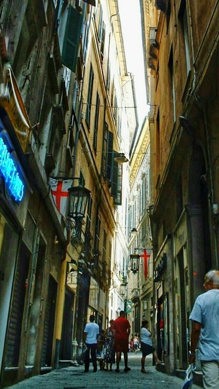 Genova ♥ Genoa Street Downtown Historical Center Eyeemfilter fresh 3 Street Photography Old Town Point And Shoot Italy