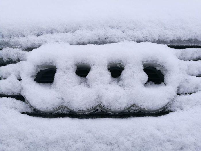 audi Car Audi Snow Cold Temperature Winter Snowing Snowdrift Snowflake Frozen Ice White Color Weather